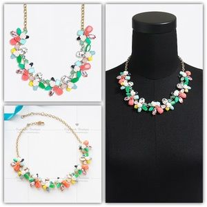 J.Crew Rose Garden Gemstone Statement Necklace